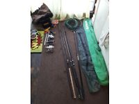 Joblot of fishing gear.