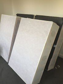 "2 double divan bases and 3 double mattresess 4'6"" x 6'3"" - 6 months old"
