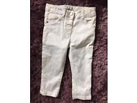 White m&s girls jeans 3-4years