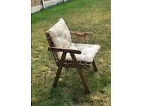 Garden table set (4 chairs with cushions) + a cover