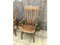 Original solid grandfather chair