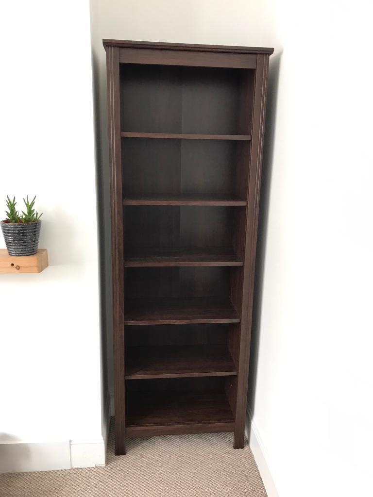 brown ikea brusali bookcase in exeter devon gumtree