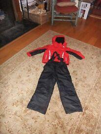 Kids ski jacket and salopettes age 7 - 8