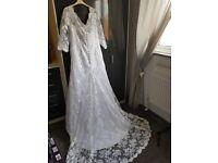 white lace wedding dress. brand new
