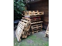 Good condition pallets for sale Ideal for any project. £50 for 10