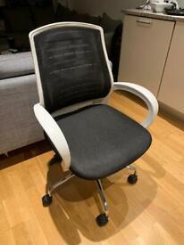 Adjustable Ergonomic Office Chair (White on Black)