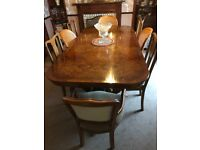 Rosewood Antique table VGC & 8 FREE chairs Bargain £100