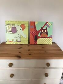 Children's animal Canvases