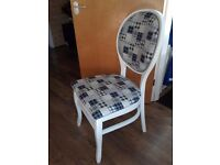 Dining/side chair, newly refurbished, patchwork style