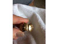 Heavy 9ct gold buckle ring