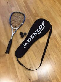 Dunlop Squash Racket, with full cover