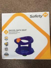 New Safety First Swivel Bath Seat Pink or Blue