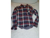 Fat Face soft cotton shirt with subtle stripe.