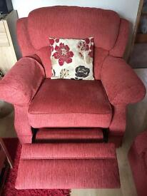 Sofa 3 seater and recliner chair