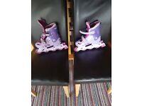 Purple roller blades size 1