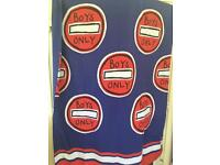 Boys single duvet cover and matching pillow case