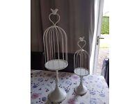 Wedding birdcage centrepieces