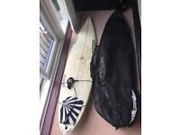 """Adams surf board & Flight Bag. 6,6"""""""