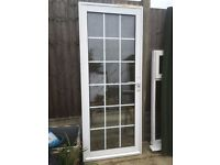 External White Aluminium door and frame W810mm x H2000mm