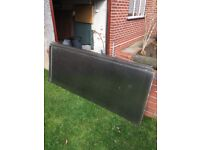 4 bronze polycarbonate sheets up to 2 m long, £10