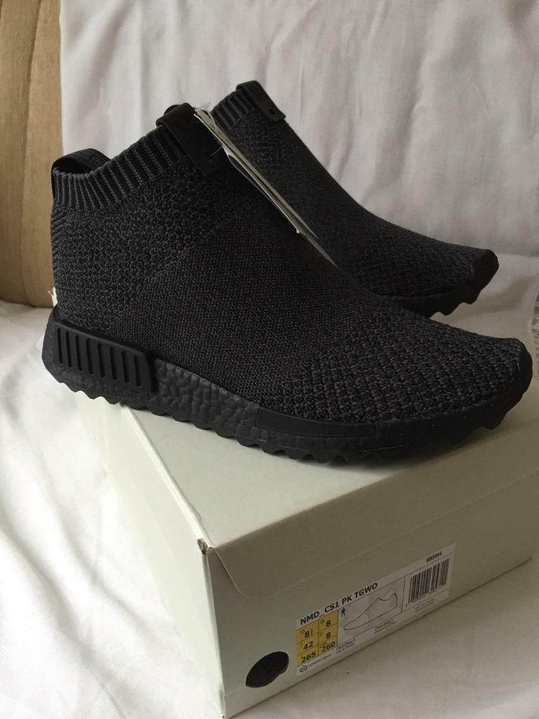 02b3d253ef40a Men Trainers Adidas NMD CS1 x TGWO triple black(the good will out ...