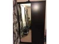 IKEA wardrobe black/brown