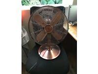"""12"""" Desk Fan Copper in Perfect Working Order"""