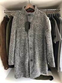 ZARA Mens Grey Funnel Coat (unworn)