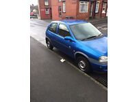VAUXHALL CORSA 1.0.... long mot, low miles