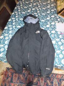 North Face black girls 3 in 1 waterproof jacket 10-12yrs
