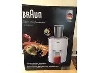 Braun J300 spin juicer - Brand new in box