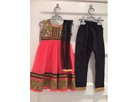 Brand new pink, gold and black girls Indian outfit size 18 (approx 18m - 2 years)