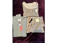 x3 Ladies Brand New Pyjama Set Size 10