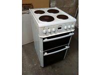Beko double oven electric cooker DV555 - White