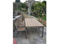 Westminster Garden Dining table and six chairs
