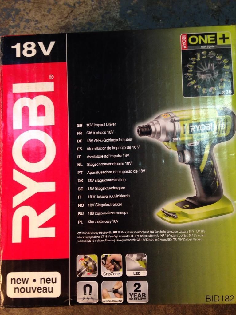 Ryobi 18v impact driver body only