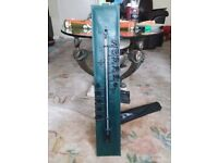 GREEN LEATHER BACKED THERMOMETER