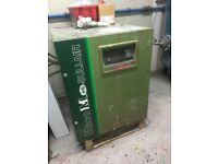 2 air compressors with tank and dryer