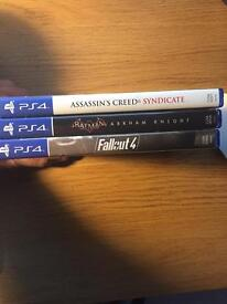 3 PlayStation 4 games