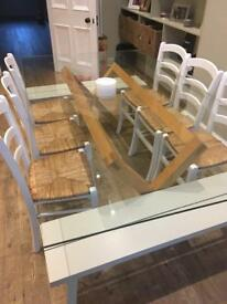Toughened glass tabletop
