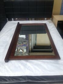 housing unit solid wood large mirror