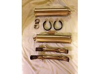 Honda SP1 oval exhaust cans plus link pipes.