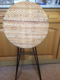 Wicker topped table