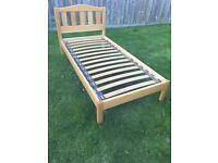 Single solid wooden bed