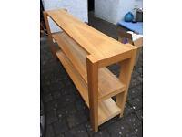 Habitat oak shelving unit - £140