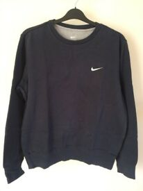 Nike Men's Crew Neck Navy Sweatshirt Medium (M)
