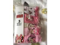 Minnie Mouse 5 Pack Girls Pants Brand New In Packet Size 1.5-2 Years