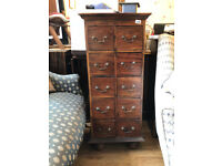 Hardwood Chest - 10 drawers - Great for storage . Good quality and condition Free Local Delivery