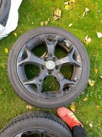 "17"" alloys with tyres"