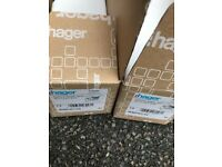 HAGER single 46mm deep moulder box (13 in total) - brand new